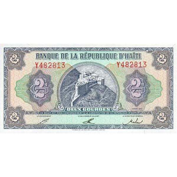 1992 - Haiti P260 2 Gourdes banknote