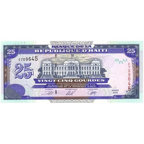 2000 - Haiti P266a billete de 25 Gourdes