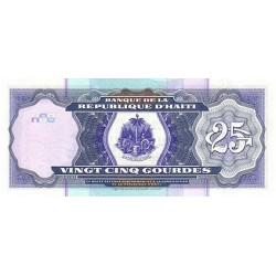 2000 - Haiti P266a 25 Gourdes banknote