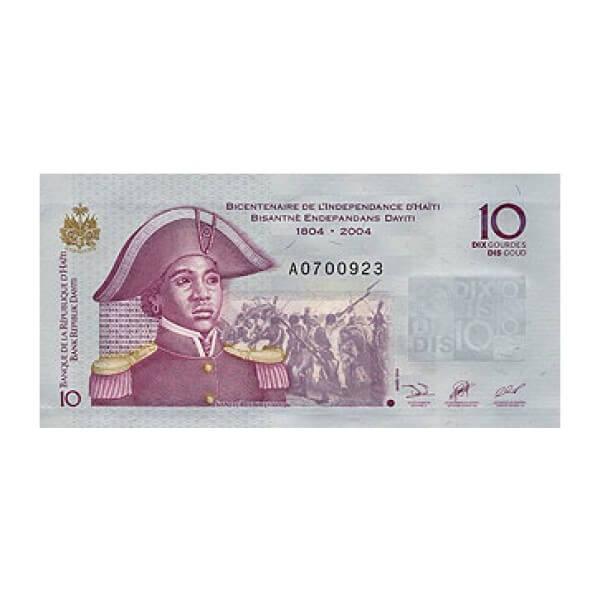 2004 - Haiti P272a billete de 10 Gourdes