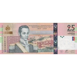2004 - Haiti P273 25 Gourdes banknote