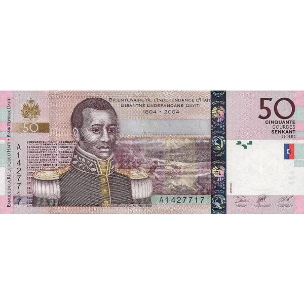 2004 - Haiti P274a billete de 50 Gourdes
