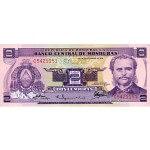 1976 - Honduras P61 2 Lempiras banknote