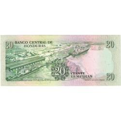 1990 - Honduras P65c 20 Lenpiras banknote