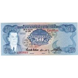 1991 - Honduras P66c 50 Lempiras banknote