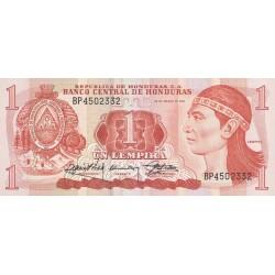 1989 - Honduras P68c 1 Lempira banknote