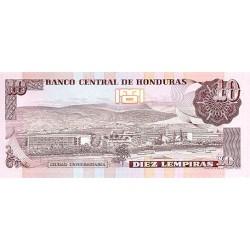 1989 - Honduras P70 10 Lempiras banknote
