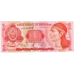1997 - Honduras P79A 1 Lempira banknote
