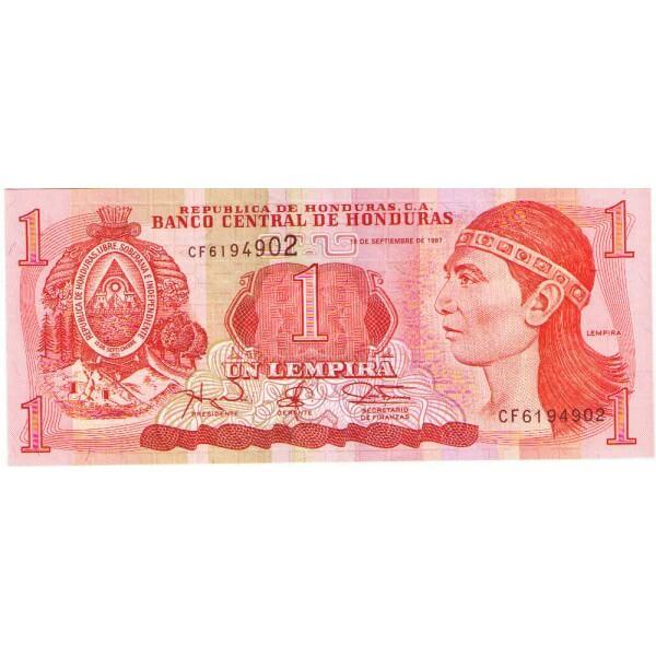 1997 - Honduras P79A billete de 1 Lempira