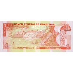 1998 - Honduras P79b 1 Lempira banknote