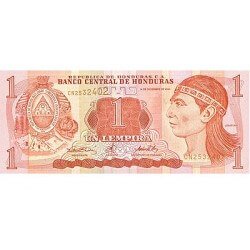 2000 - Honduras P84a 1 Lempira banknote