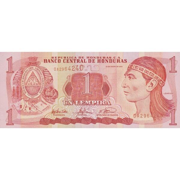 2003 - Honduras P84c billete de 1 Lempira