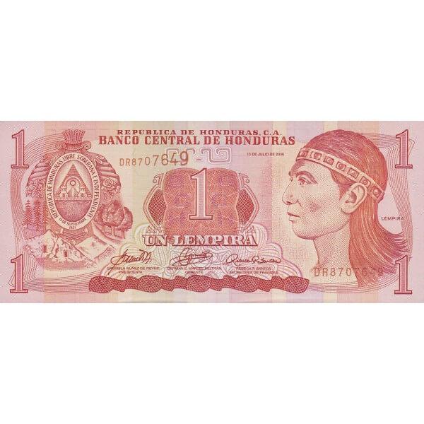 2006 - Honduras P84e 1 Lempira banknote