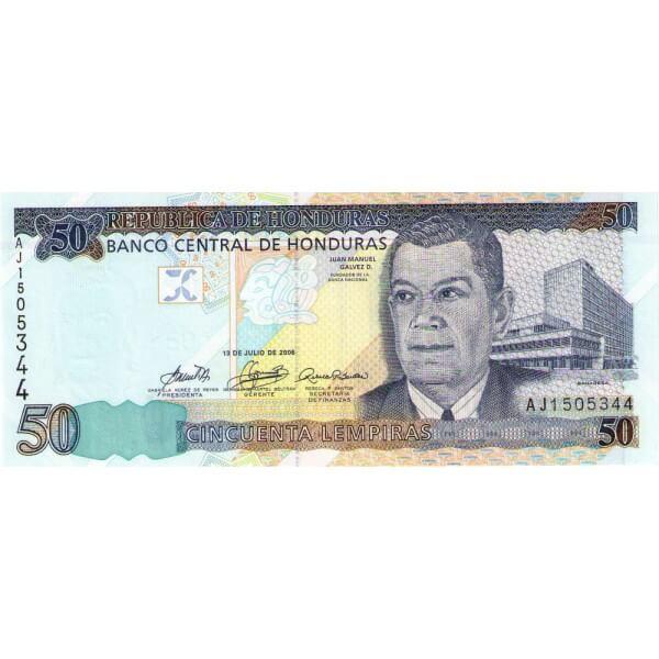 2006 - Honduras P88c billete de 50 Lempiras