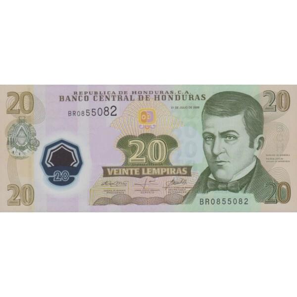 2008 - Honduras P95 billete de 20 Lempiras