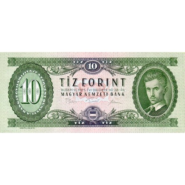 1969 - Hungria PIC 168d     10 Forint   banknote