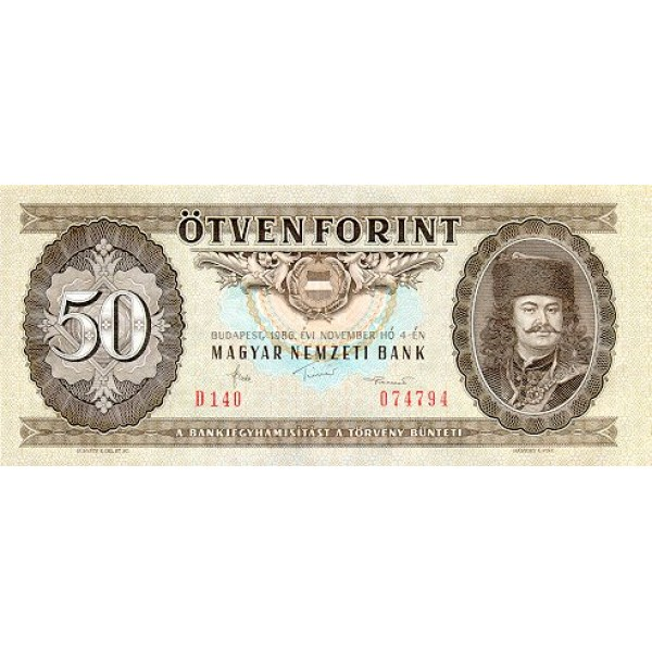 1986 - Hungria PIC 170g   50 Forint   banknote