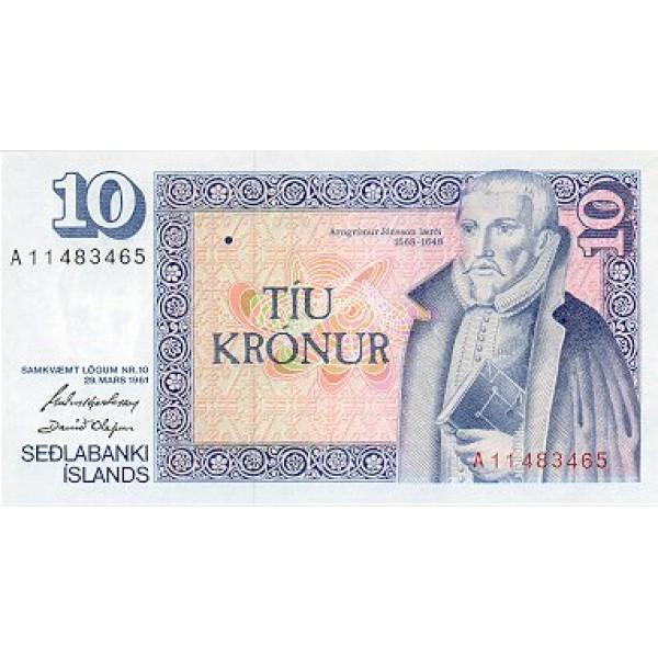1974/84 - Iceland PIC 48      10 Kronus banknote