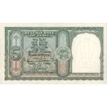 1957 - India pic 33 billete de 5 Rupias F.72