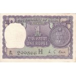 1976 - India PIC 77r      1 Rupe  banknote