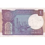 1991 - India PIC 78Ag  letter B    1 Rupe  banknote