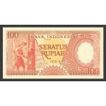 1958 - Indonesia PIC  59     100 Rupees banknote