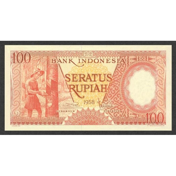 1958 - Indonesia pic 59 billete de 100 Rupias