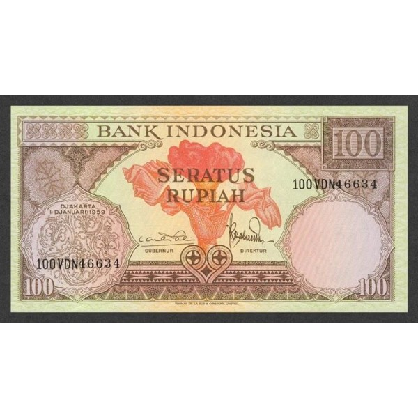 1959 - Indonesia pic 69 billete de 100 Rupias