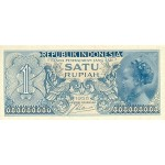 1954 - Indonesia PIC  74    1 Rupee banknote