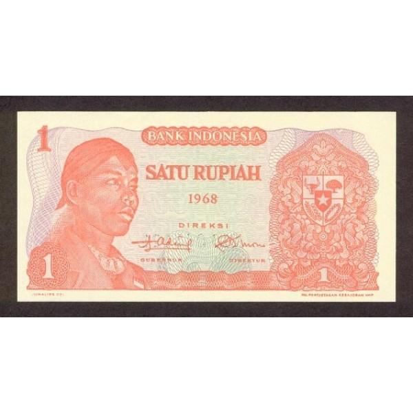 1968 - Indonesia pic 102a billete de 1 Rupia