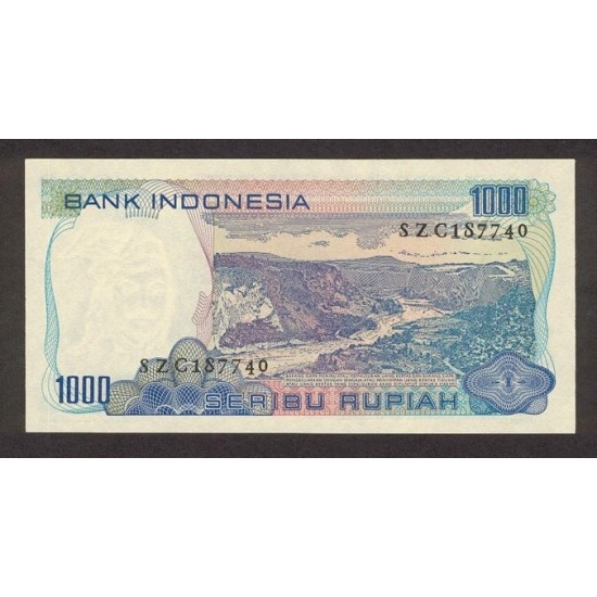 1980 - Indonesia PIC  119    1000 Rupees banknote