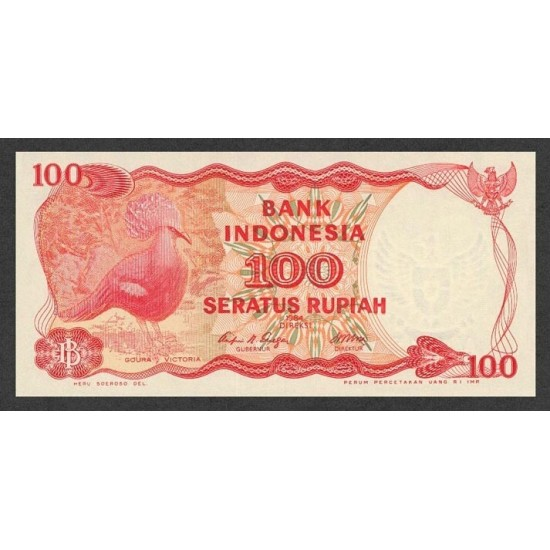 1984 - Indonesia PIC  22    100 Rupees banknote
