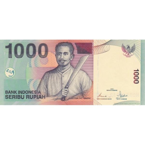 2000 - Indonesia pic 141 billete de 1000 Rupias
