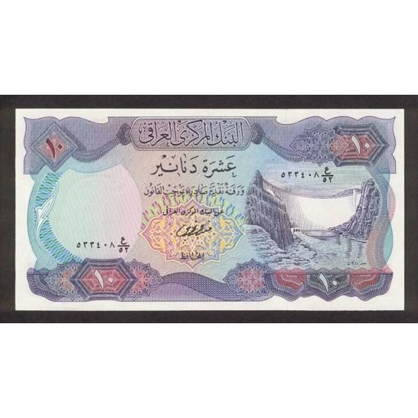 1973 - Iraq PIC 65       10 Dinars  banknot