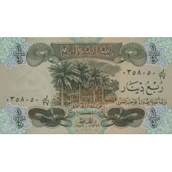 1979 - Iraq PIC 67       1/4  Dinar  banknote