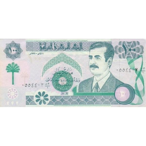 1991 - Iraq PIC 76      100 Dinars  banknote