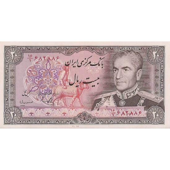 1974 - Iran PIC 100b    20 Rials banknote