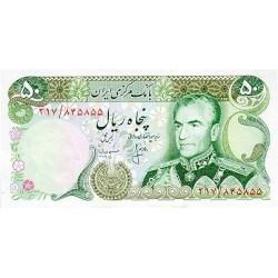 1974 - Iran PIC 101c    50 Rials banknote