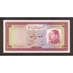 1954 - Iran PIC 67    100 Rials banknote