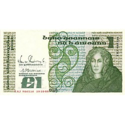 1989 - Irland Republic    Pic  70 d         1 Pound banknote