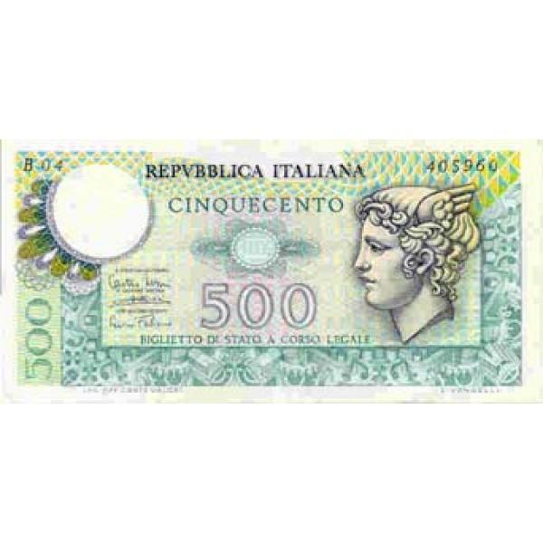 1974 - Italy PIC 94   500 Liras  banknote