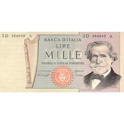 1981- Italy PIC 101h     1.000 Liras  banknote VF