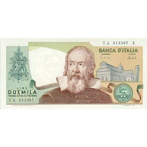 1973 - Italiy  PIC 103a    2.000 Liras banknote