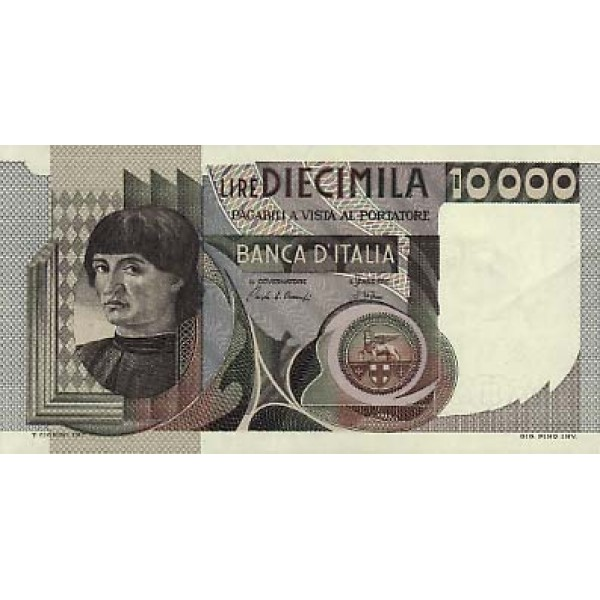 1980 - Italy PIC 106a     10.000 Liras  banknote