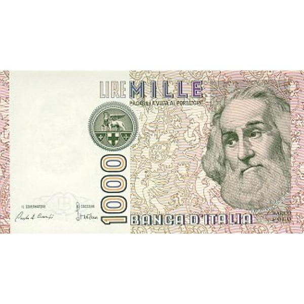 1982 - Italy PIC 109a     1.000 Liras  banknote