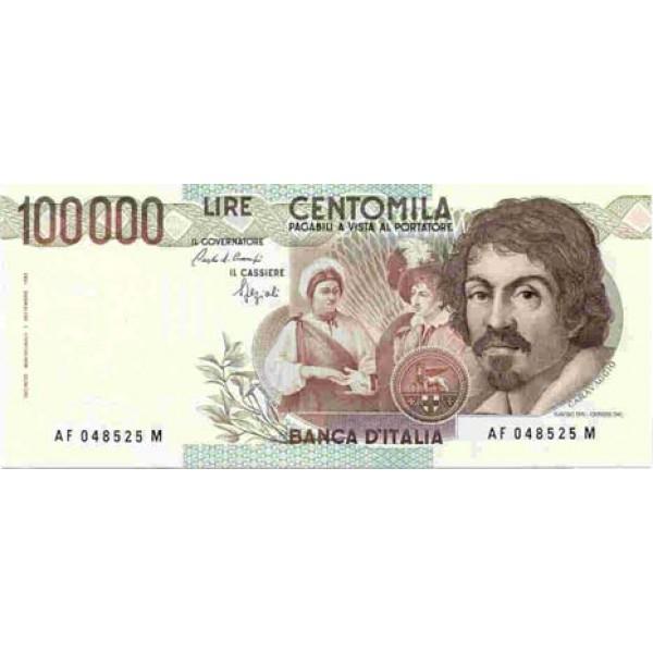 1983 - Italy PIC 110 b   100.000 Liras  banknote F
