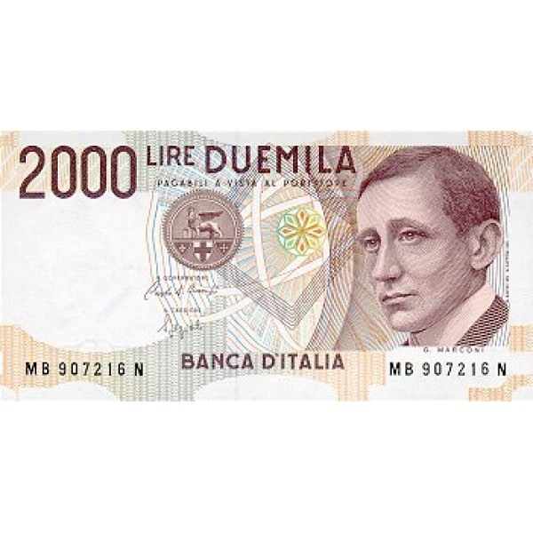 1990 - ItaliyPIC 115     2.000 Liras banknote
