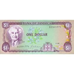 1985 - Jamaica  Pic 68 Aa      1 Dollar banknote