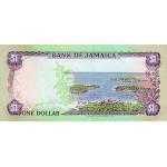1990 - Jamaica  Pic 68 Ad      1 Dollar banknote