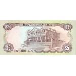 1992 - Jamaica  Pic 70d     5 Dollars banknote